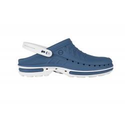 Wock Clog 04 Wit-Blauw