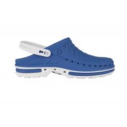 Wock Clog 07 Wit-Middenblauw